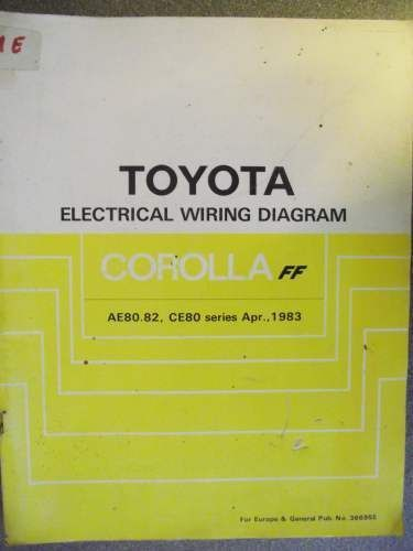 toyota corolla ff electrical wiring diagram manual 1983 36695e rh pinterest com Electric Meter Wiring Diagram 2007 toyota 4runner electrical wiring diagram manual