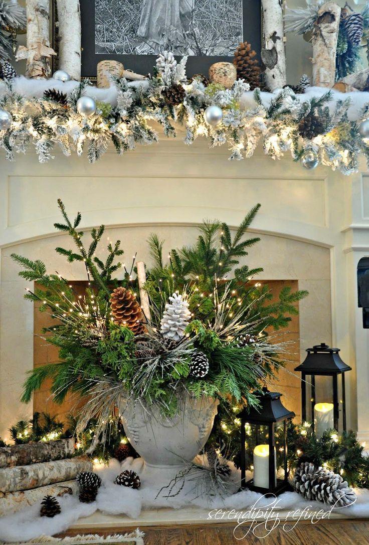 50 Absolutely Fabulous Christmas Mantel Decorating Ideas Christmas Mantel Decorations Beautiful Christmas Christmas Fireplace