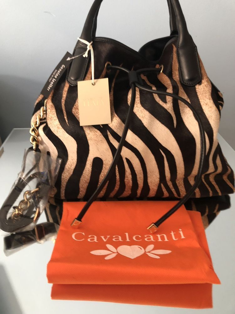 518d9a802113 CAVALCANTI - Designer Tote Genuine Tiger Leather - Made in Italy NWT ...