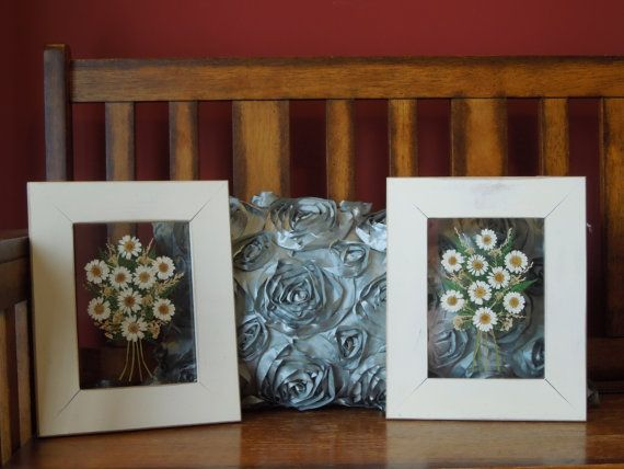 Set of 2 Framed Wall Hangings / Pictures by CarolsCuriosities, $30.00