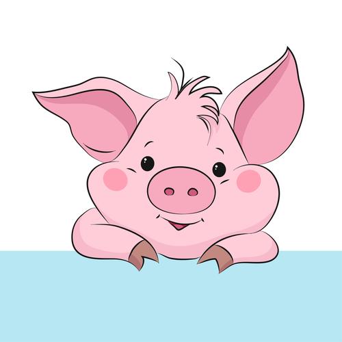 Cute Cartoon Pig Vector Design 09 Pig Cartoon Pig Vector Cute Cartoon