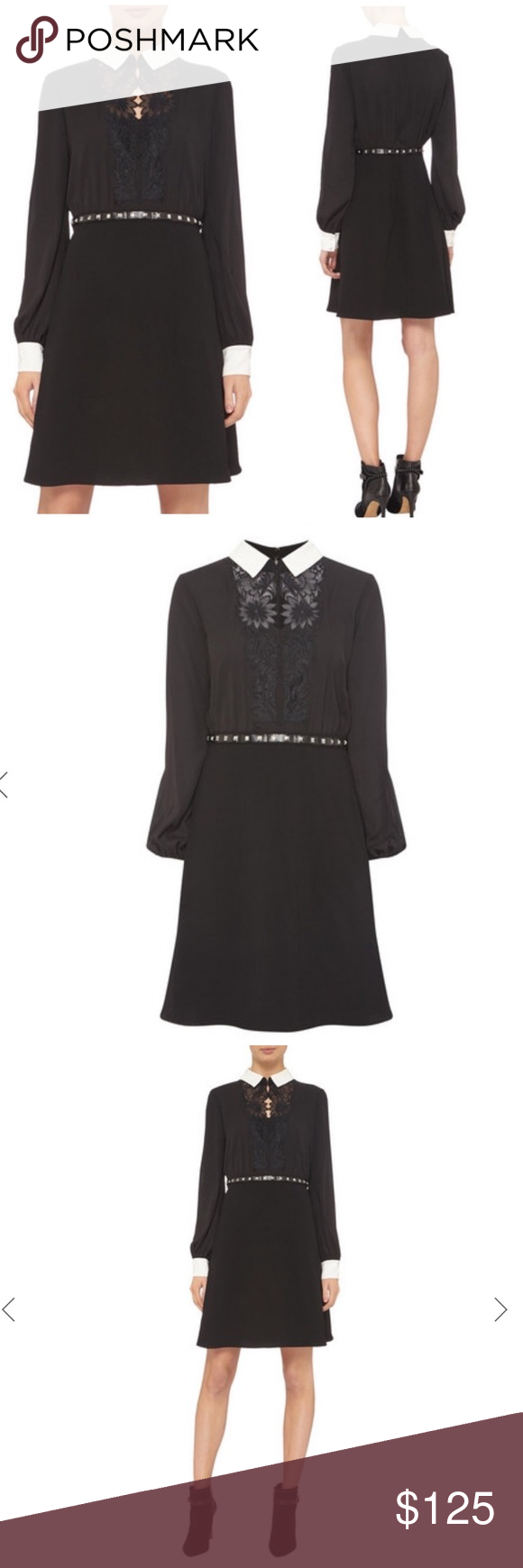 The Kooples Lace Yoke Collar Belted Dress 2 Belted Dress Clothes Design Collar Dress [ 1740 x 580 Pixel ]