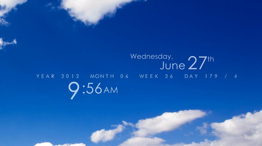 41++ Rainmeter date info