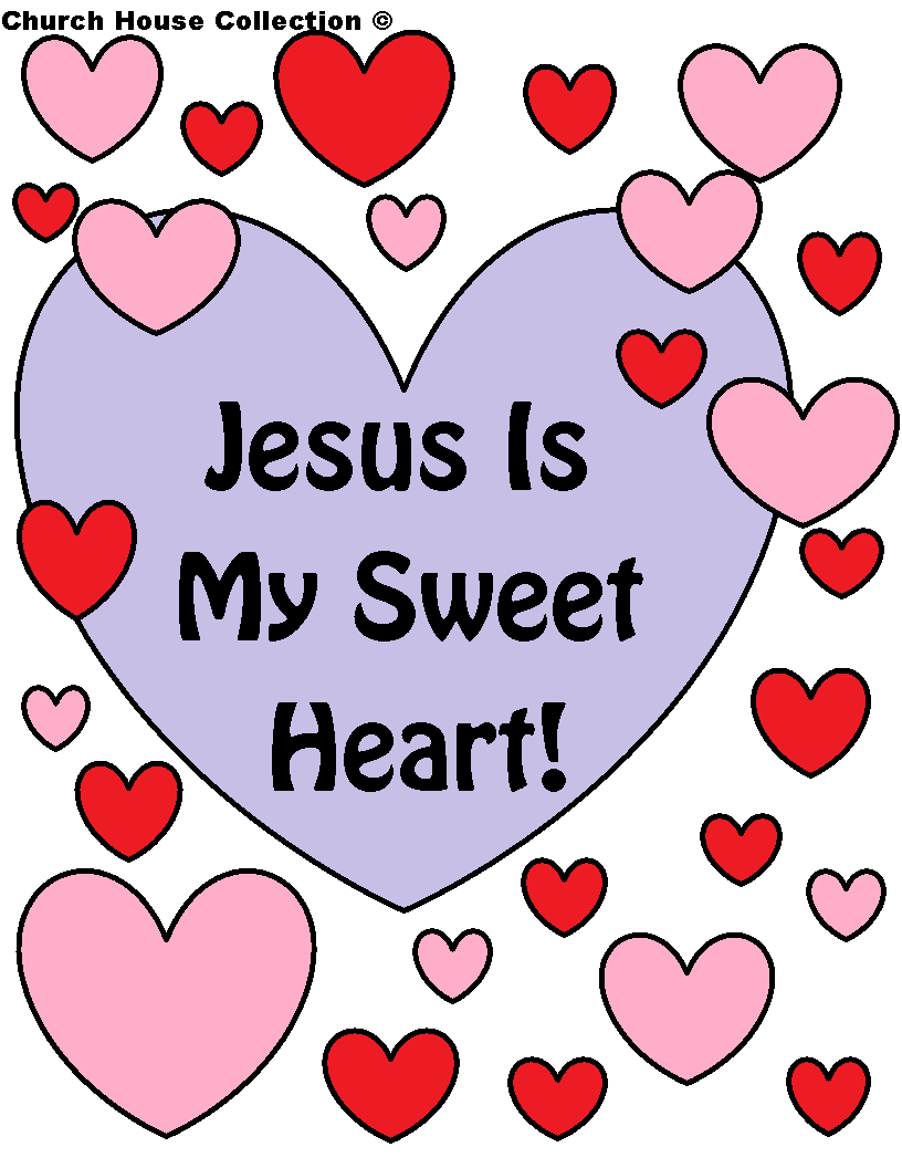 Valentine party ideas for church - Church House Collection Blog Jesus Is My Sweet Heart Coloring Page For Sunday School Or Valentine Bannervalentines Dayvalentine Partyvalentine Ideassweet