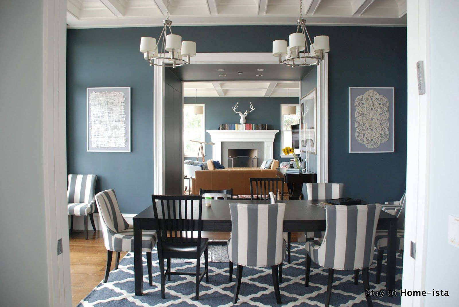 Attractive Dining Room Chairs With Yellow Gray And Blue | It Looks Awesome Graphic And  Bold And