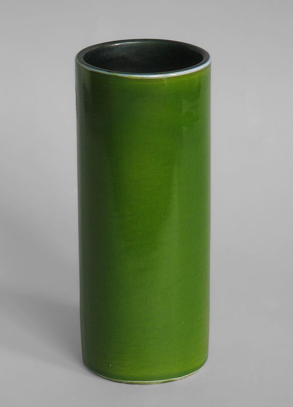 Vase rouleau vert, Georges Jouve, 1955
