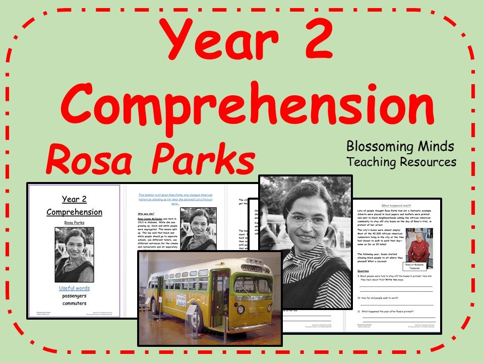 Year 2 SATs Reading Comprehension Rosa Parks (With