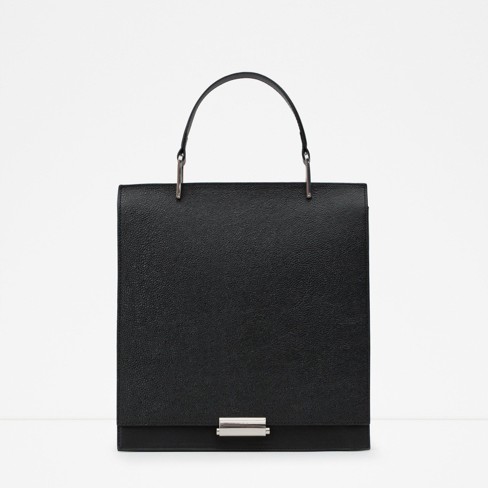 Embossed City Bag Zara Canada Beautiful Handbagsbeautiful