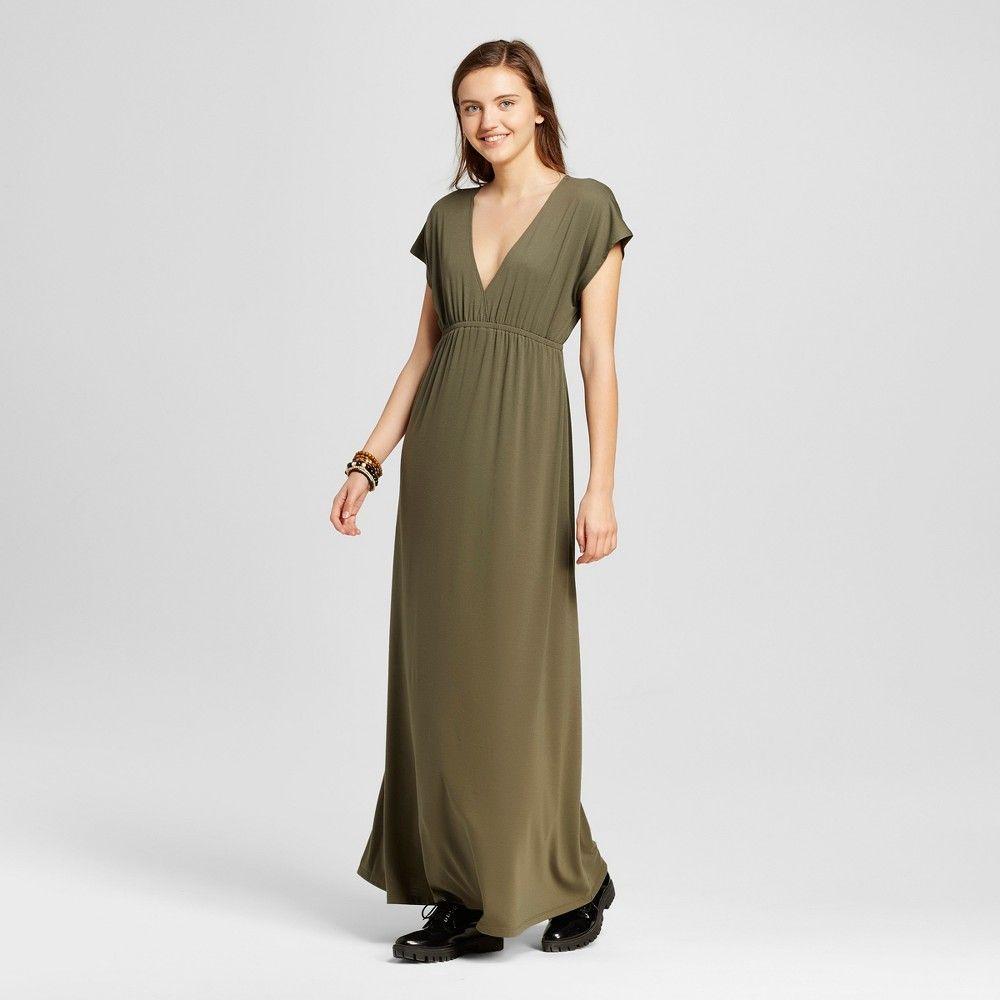 05c8bced Women's Maxi Kimono Knit Dress Olive (Green) - Mossimo Supply Co., Size