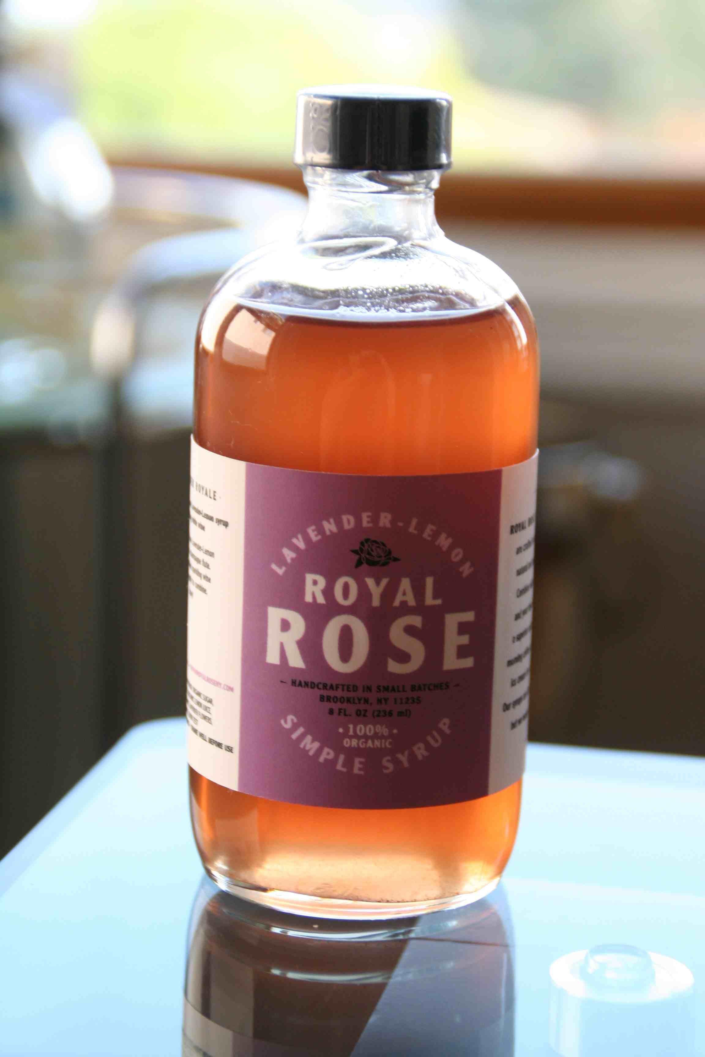 Royal Rose Simple Syrup Wine Bottle Whiskey Bottle Rose Wine Bottle