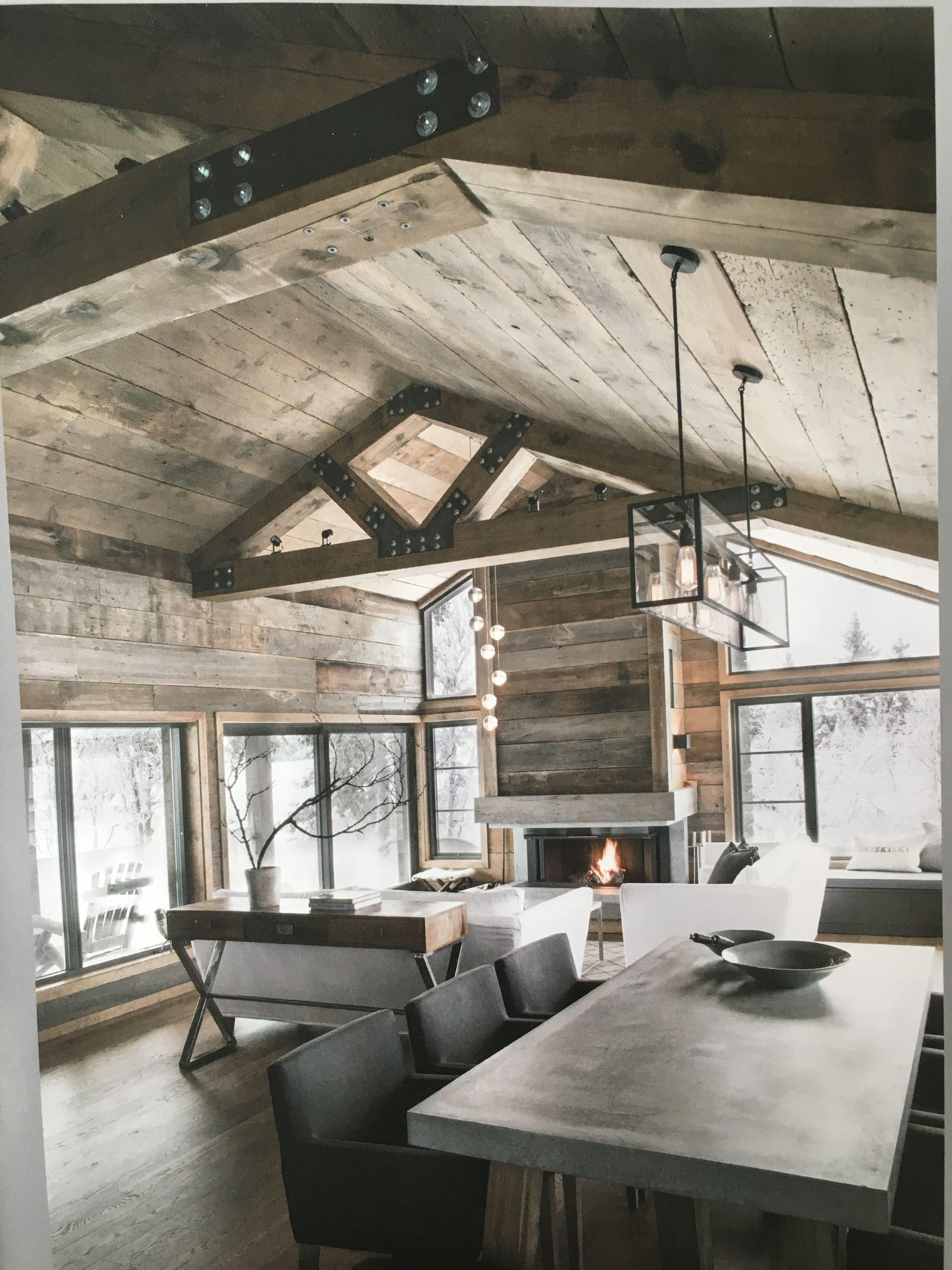 Attractive Modern Rustic Design, Wood Accents, Concrete Furnishings, Warm Color Palette
