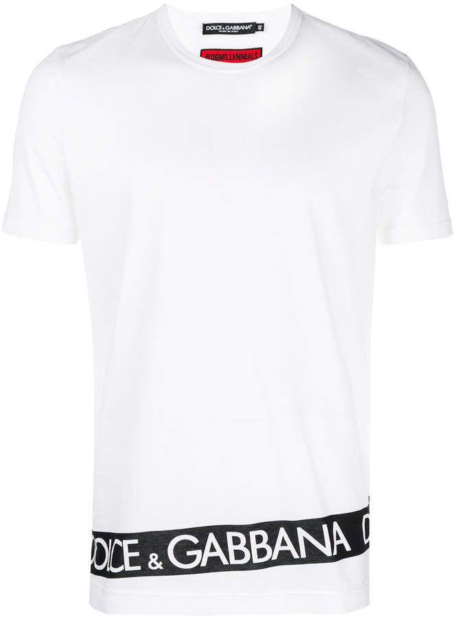 c8da2143 Dolce & Gabbana logo print stripe T-shirt | Karate in 2019 | Dolce ...