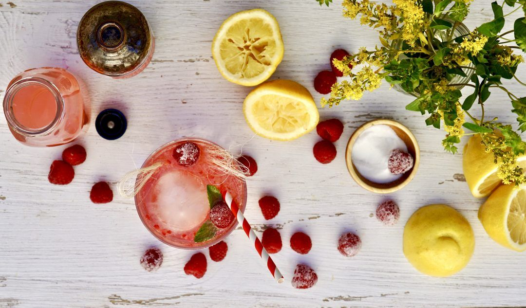 Raspberry Vodka Lemonade Cooler #raspberryvodka