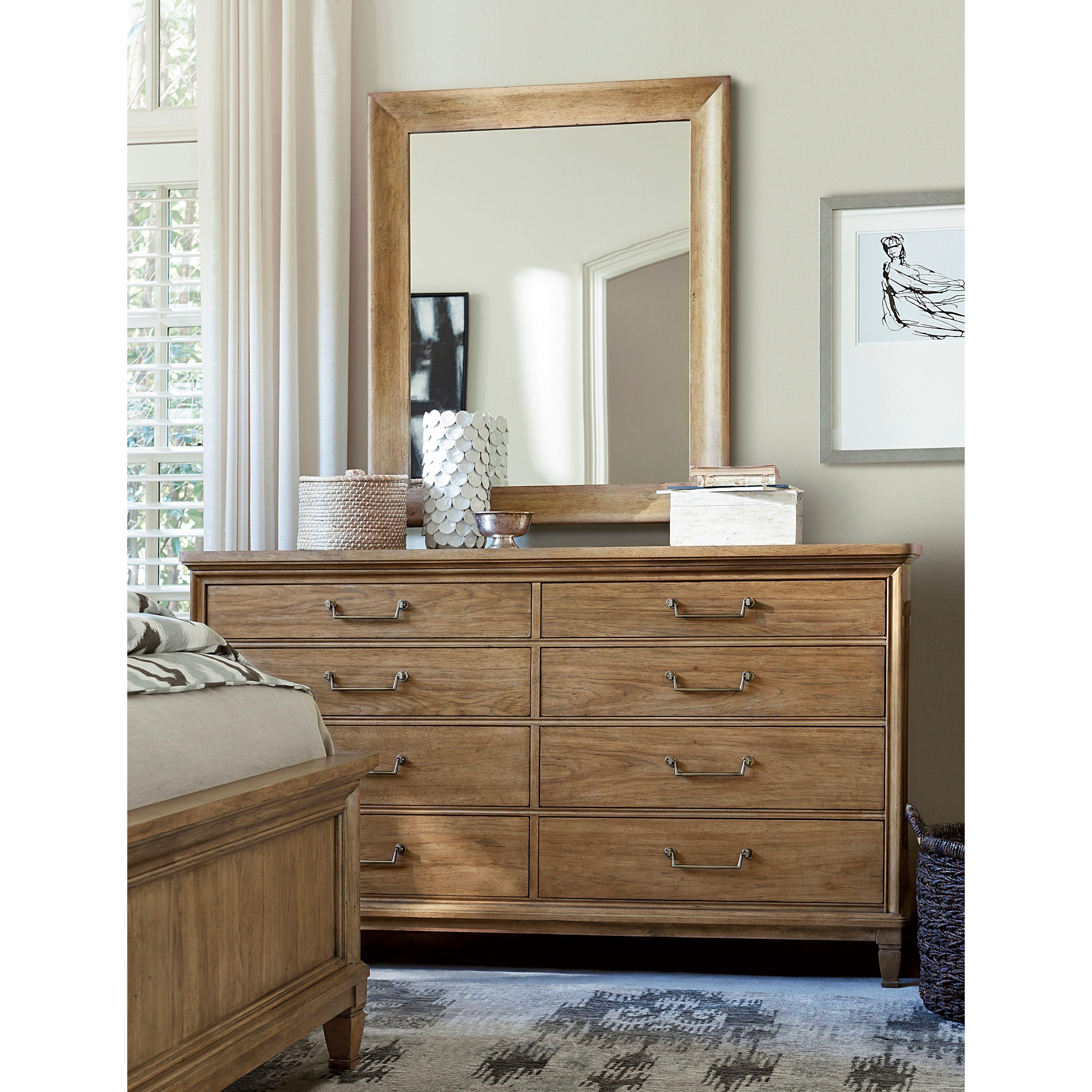 Universal Furniture Moderne Muse Dresser in Bisque Finish (Dresser), Tan, Size 8-drawer