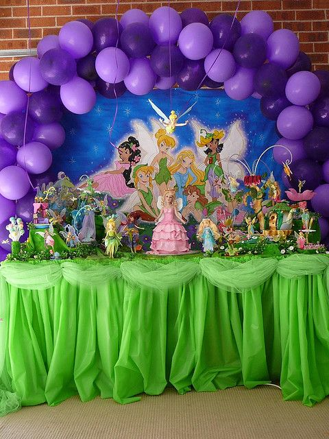 Tinkerbell party table display