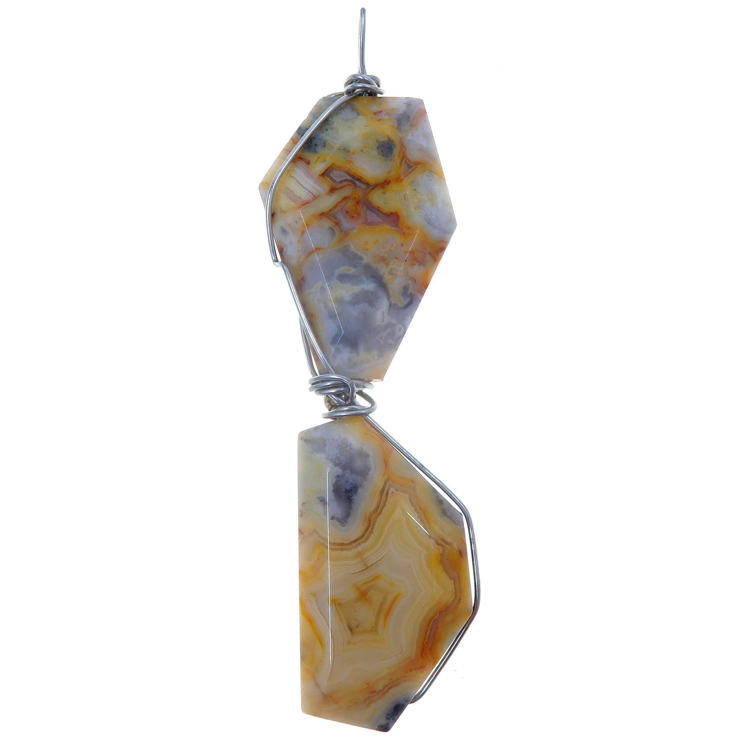 Beautiful Healing Stone Natural Crazy Lace Agate Gemstone Pendant
