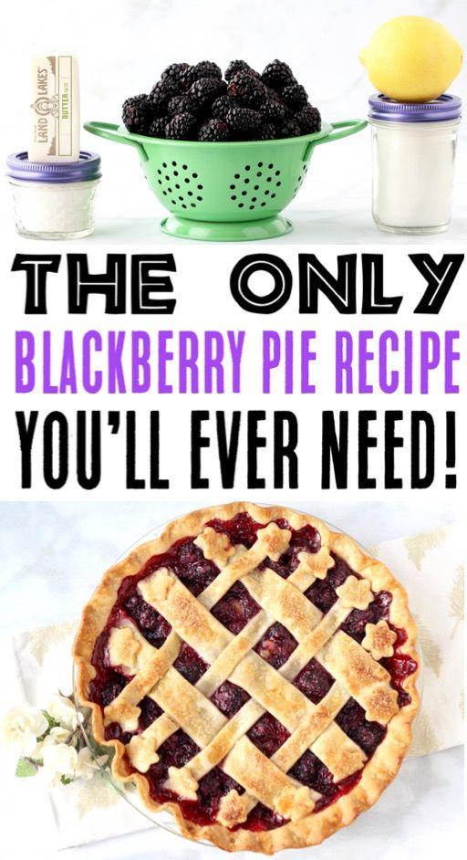 Homemade Fresh Blackberry Pie Recipe! {Easy} - The Frugal Girls