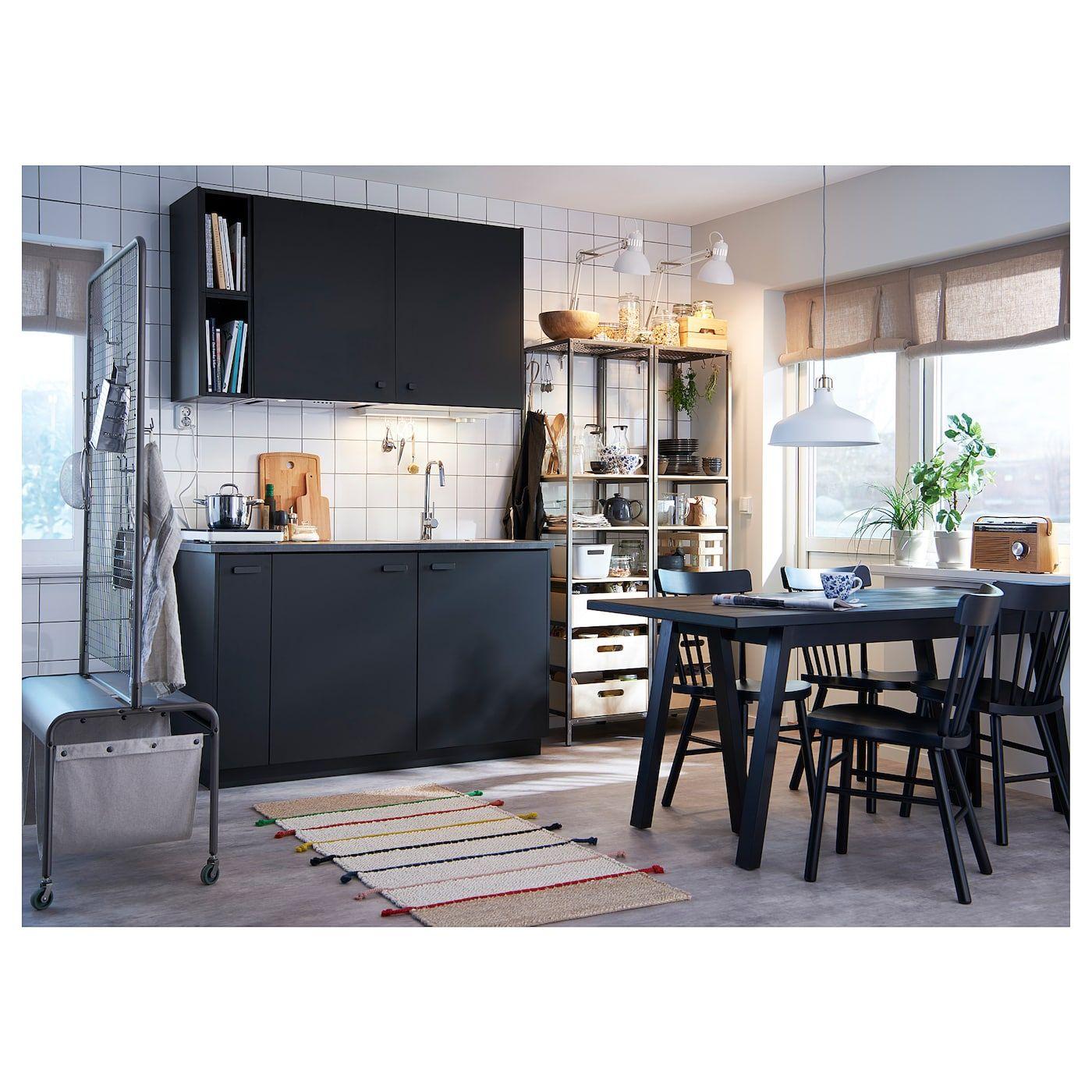 NORDVIKEN / RÖNNINGE Table and 4 chairs, white, birch