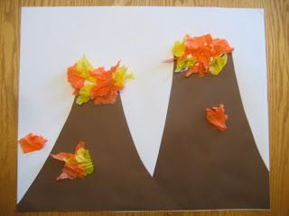 Volcano Art And Science Experiment Dinosaur Crafts Kids Crafts