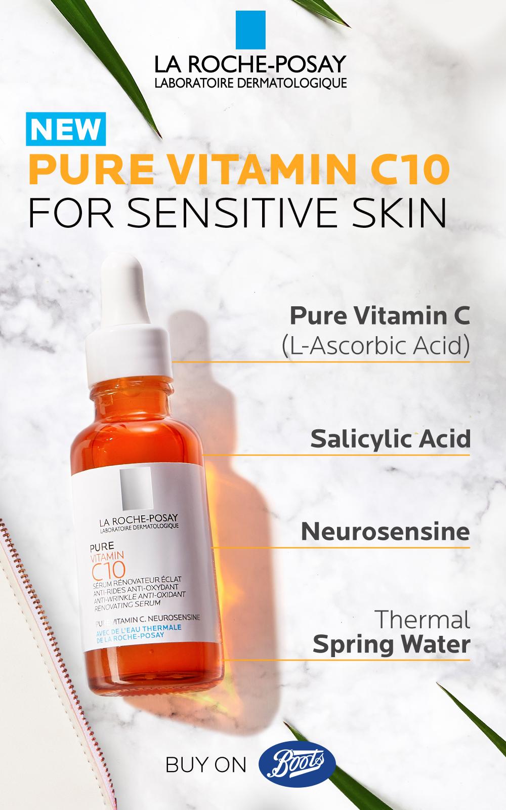 La Roche Posay Pure Vitamin C 10 Serum 30ml Rosacea Skin Care Routine Rosacea Skin Care Pure Products