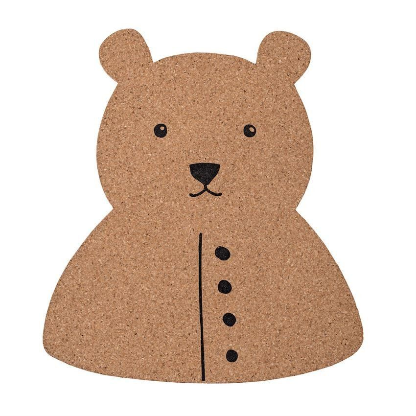 bear is a cute and practical animal shaped cork board unframed and with carved edges