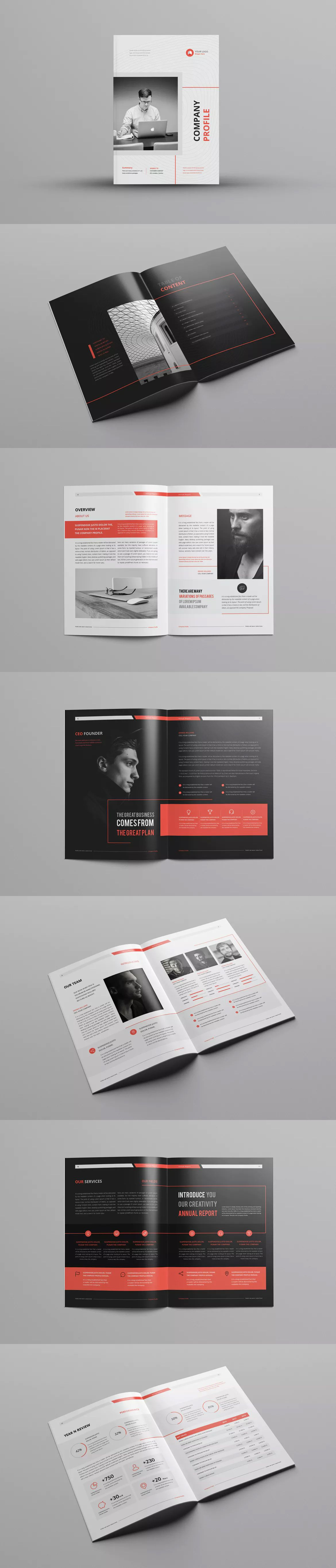 Company Profile Template Indesign Indd A4 Company Profile Design