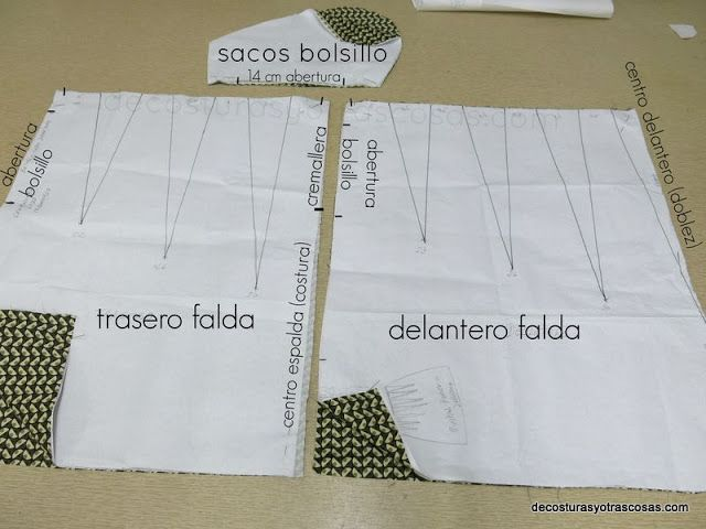 patrón falda trece pinzas | How to Make Your Own Sewing Patterns ...