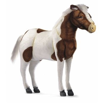 Handcrafted 42 Inch Life Size Ride On Stuffed Shetland Pony By Hansa