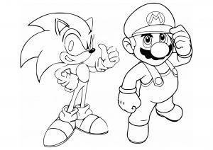 Mario & Sonic Coloring page | Mario coloring pages, Super ...
