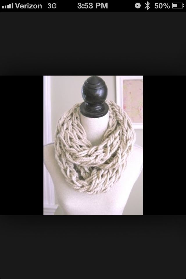 Infinity Arm Knit Scarf | Knit, crochet, looming & arm ...