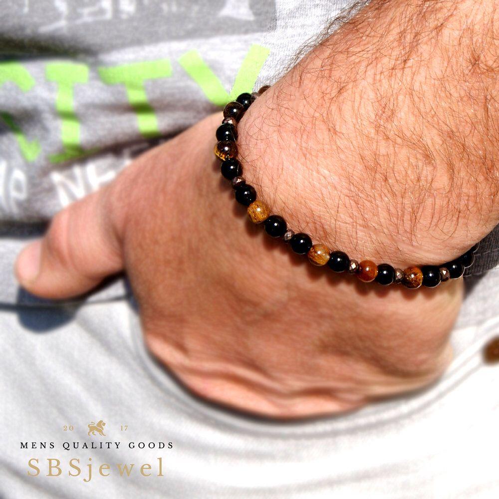 Black Onyx Mat Simple Men Bracelet Beaded Men Bracelet Tiger Eye Mens Bracelet Beaded Men 6mm Mens Beaded Bracelet Mens Bracelets