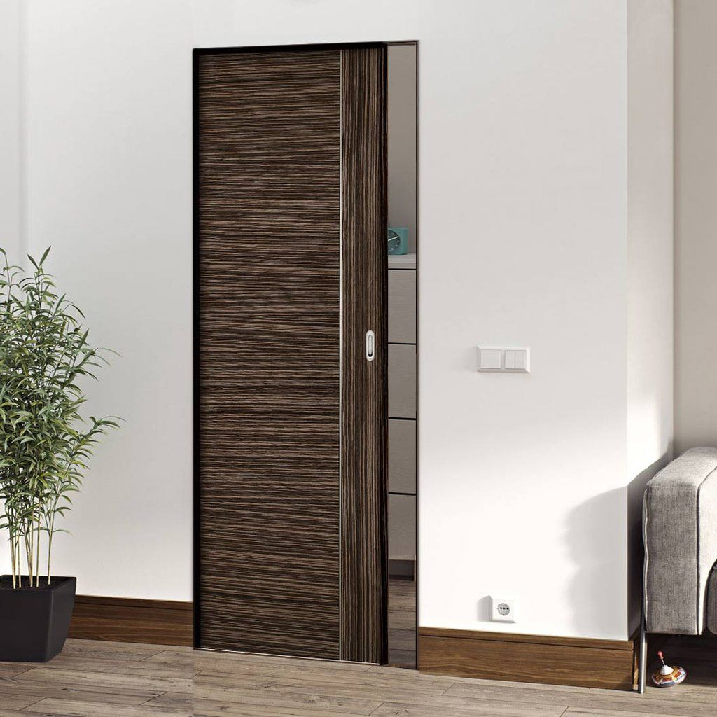 Deanta Calgary Flush Syntesis Pocket Door Abachi Wood Prefinished