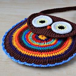 Crochet owl bag.