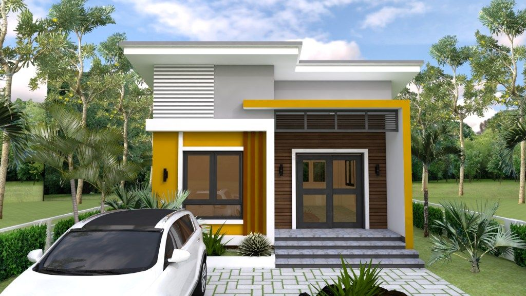 Small Home design Plan 6.5x8.5m with 2 Bedrooms | Small ...