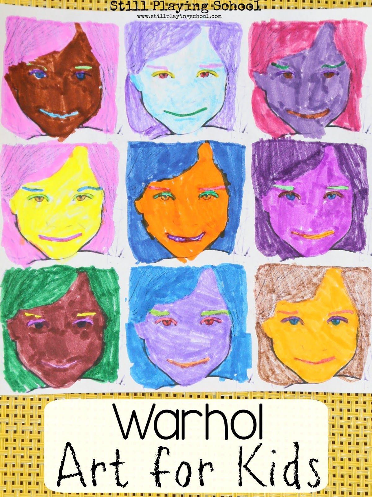 Warhol Inspired Art For Kids With Images