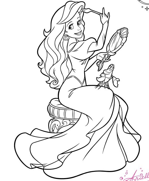 Ariel coloring page aeww Princess