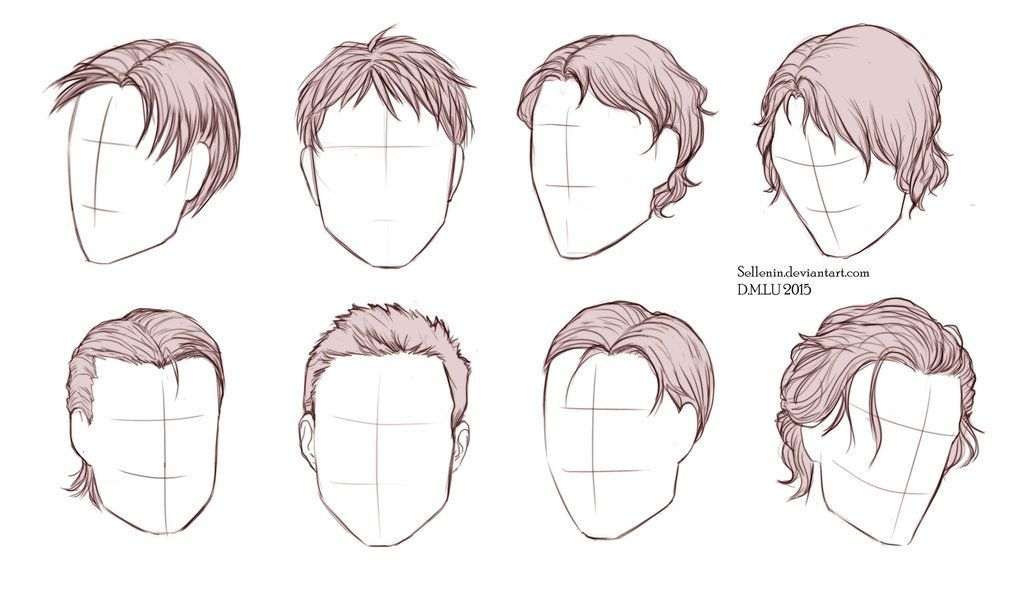 Male Hairstyles By Sellenin Deviantart Com On Deviantart Drawing Male Hair How To Draw Hair Hair Sketch