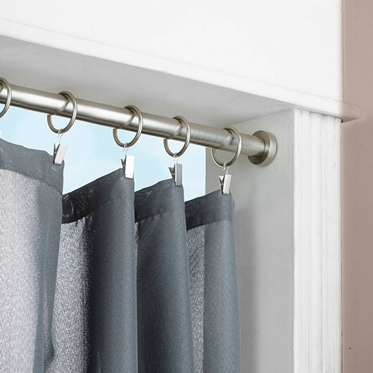 Curtain Tension Rod Diameter 16 19 Mm Tension Rod Curtains Curtains Curtain Rods Tension curtain rod extra long