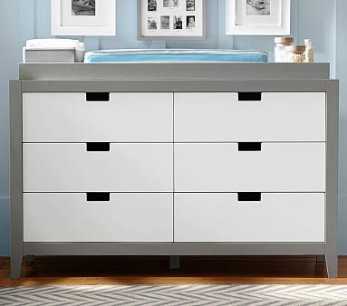 Tatum Extra Wide Dresser U0026 Topper Set, Simply White U0026 Gray. Baby Changing  TablesDresser ...