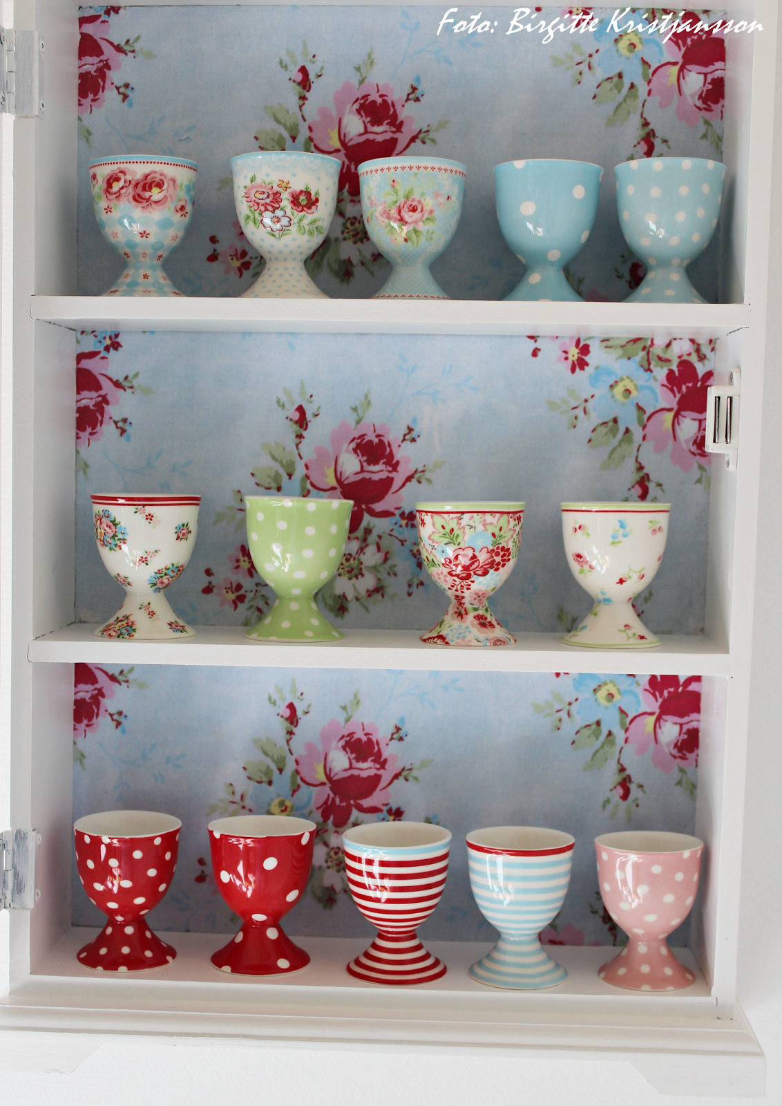 Havets Sus | beautiful display of GreenGate egg cups
