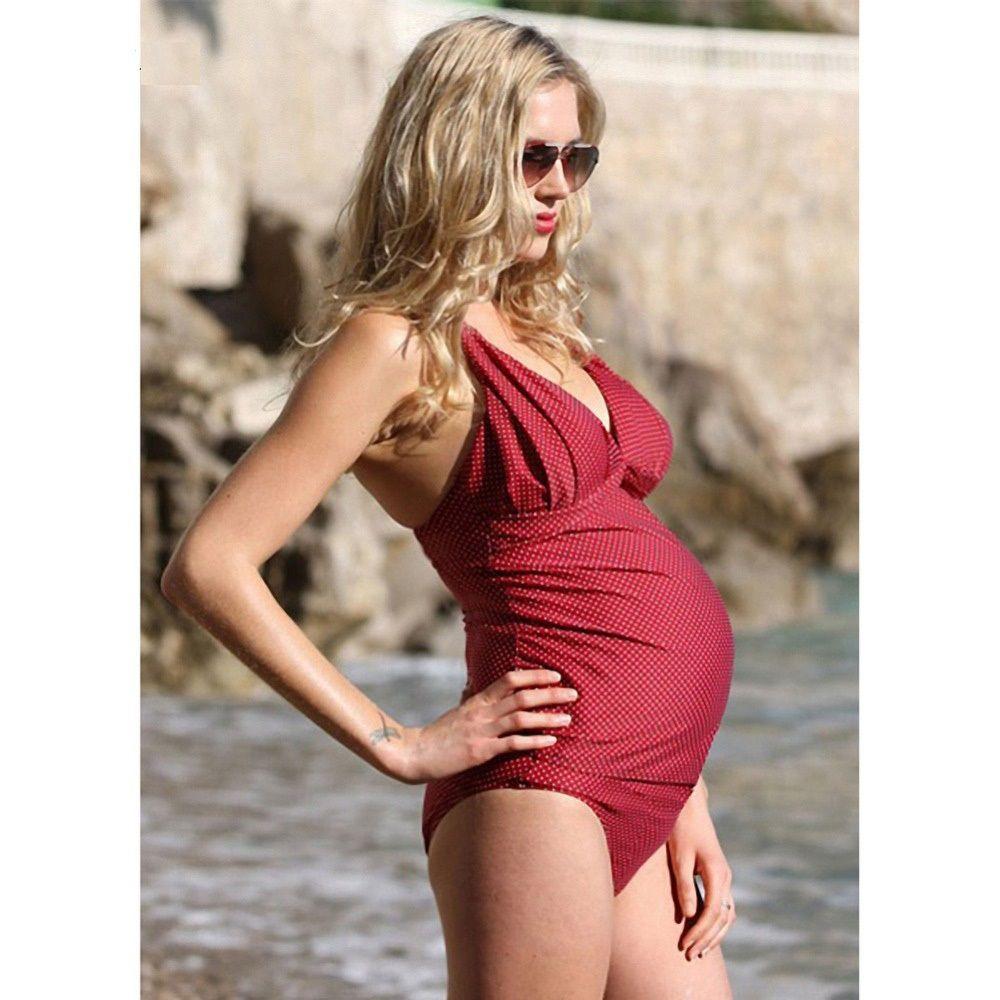 476f25da9e323 Fardas Women Pregnant Two Pieces Sets Pregnancy Maternity Swimwear  Plaid/Dot Summer Swimsuit XL-3XL