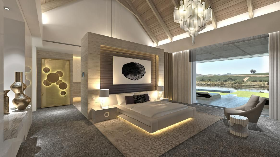located in stellenbosch a town in the western cape province of south africa de zalze 190 is a luxury villa that was designed by antoni associates - Bedroom Designs South Africa