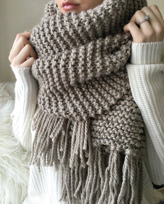 The Blanket Scarf Knitting Pattern (Instant Download ...