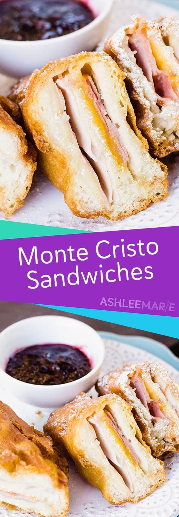 Homemade deep fried monte cristo sandwich - Ashlee Marie