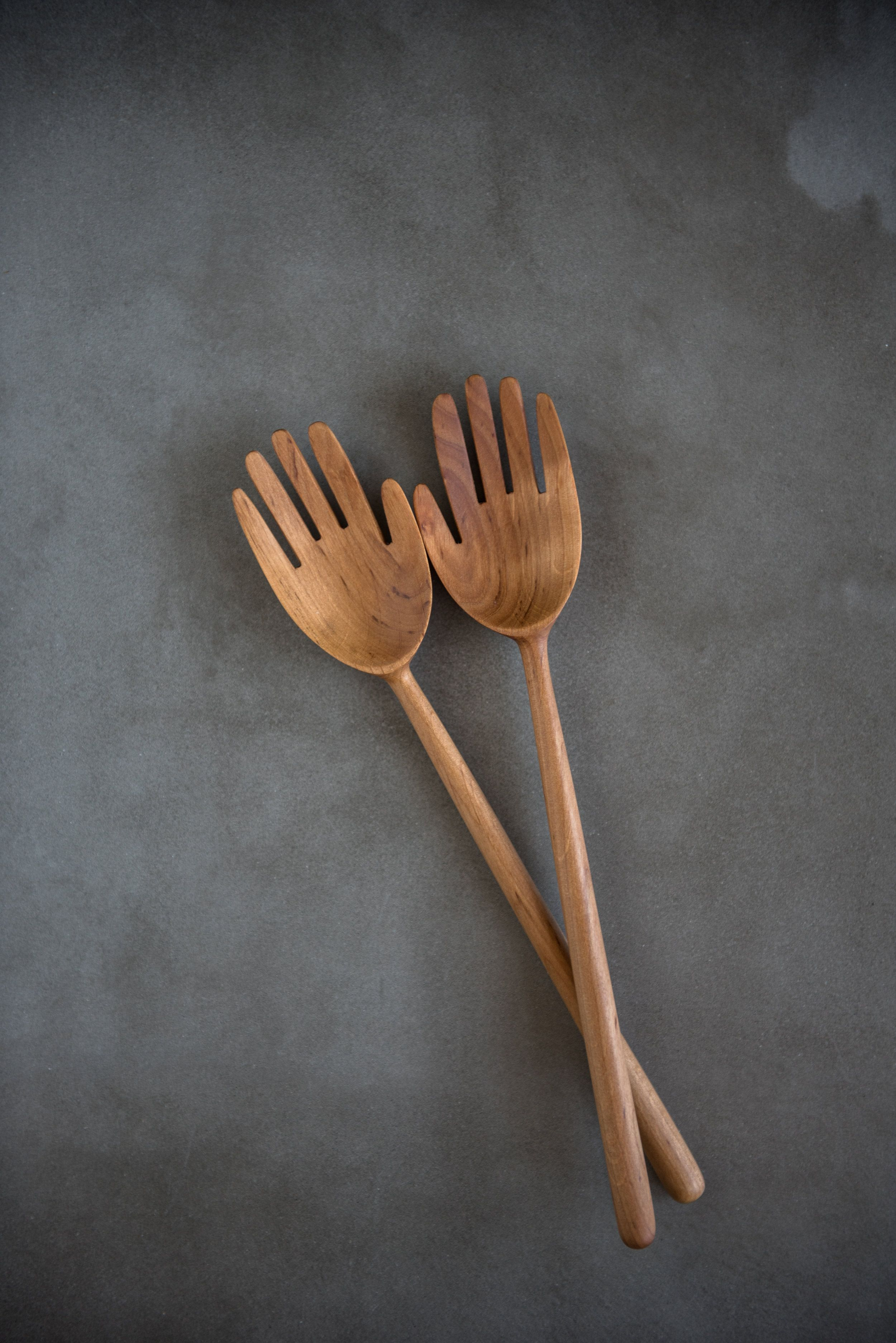 Beautifully Handcrafted Of Alder Wood These Refined Salad Servers