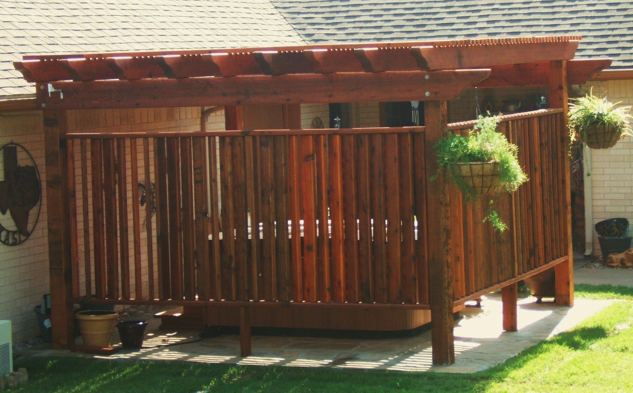 pergola over hot tub pictures