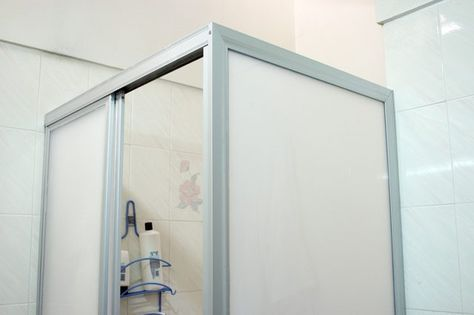 How To Paint A Shower Door Frame Hunker Shower Doors Bathroom Shower Doors Gold Shower Door