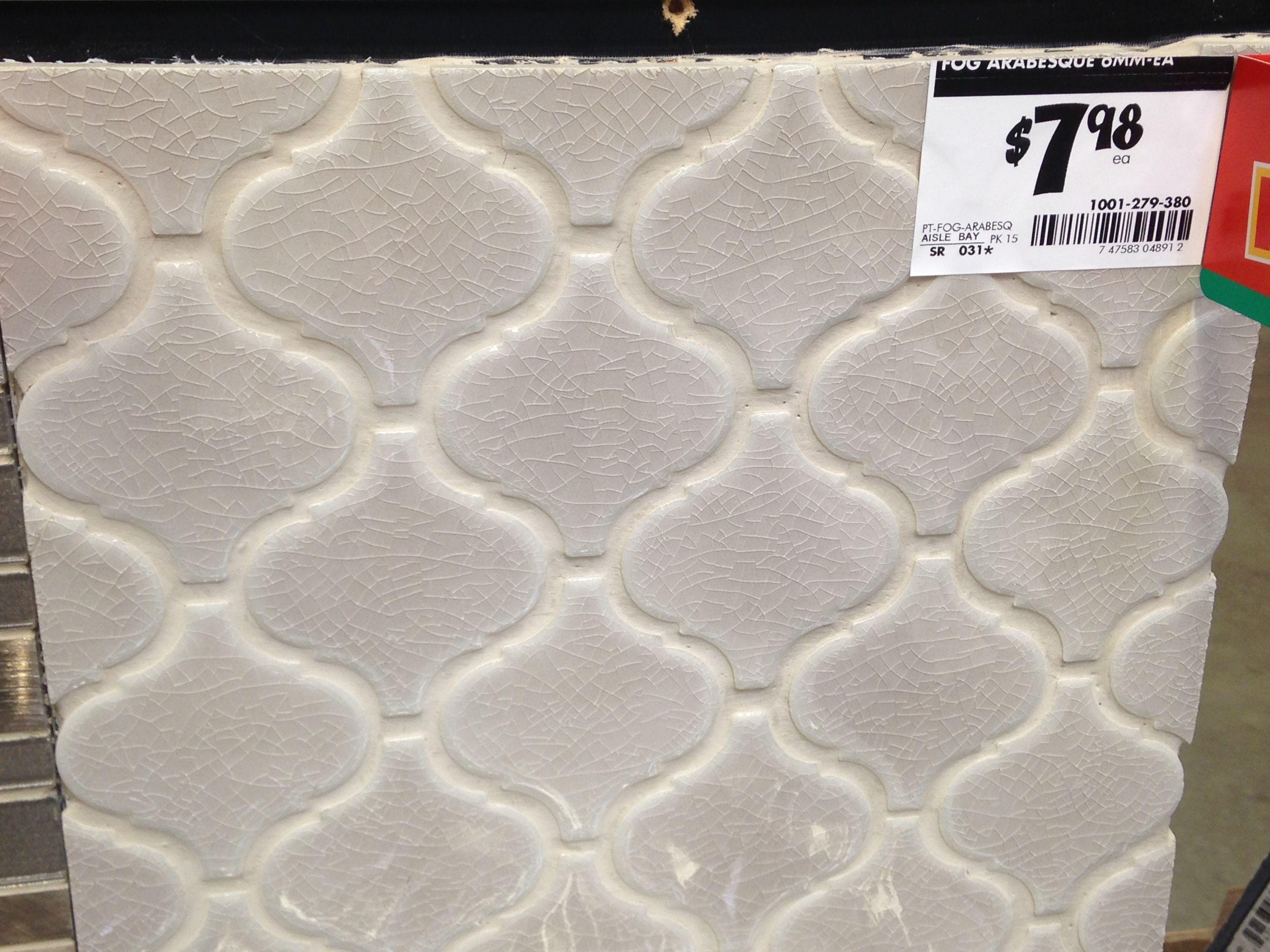 Fog Arabesque Tile From Home Depot Potential Backsplash Lake
