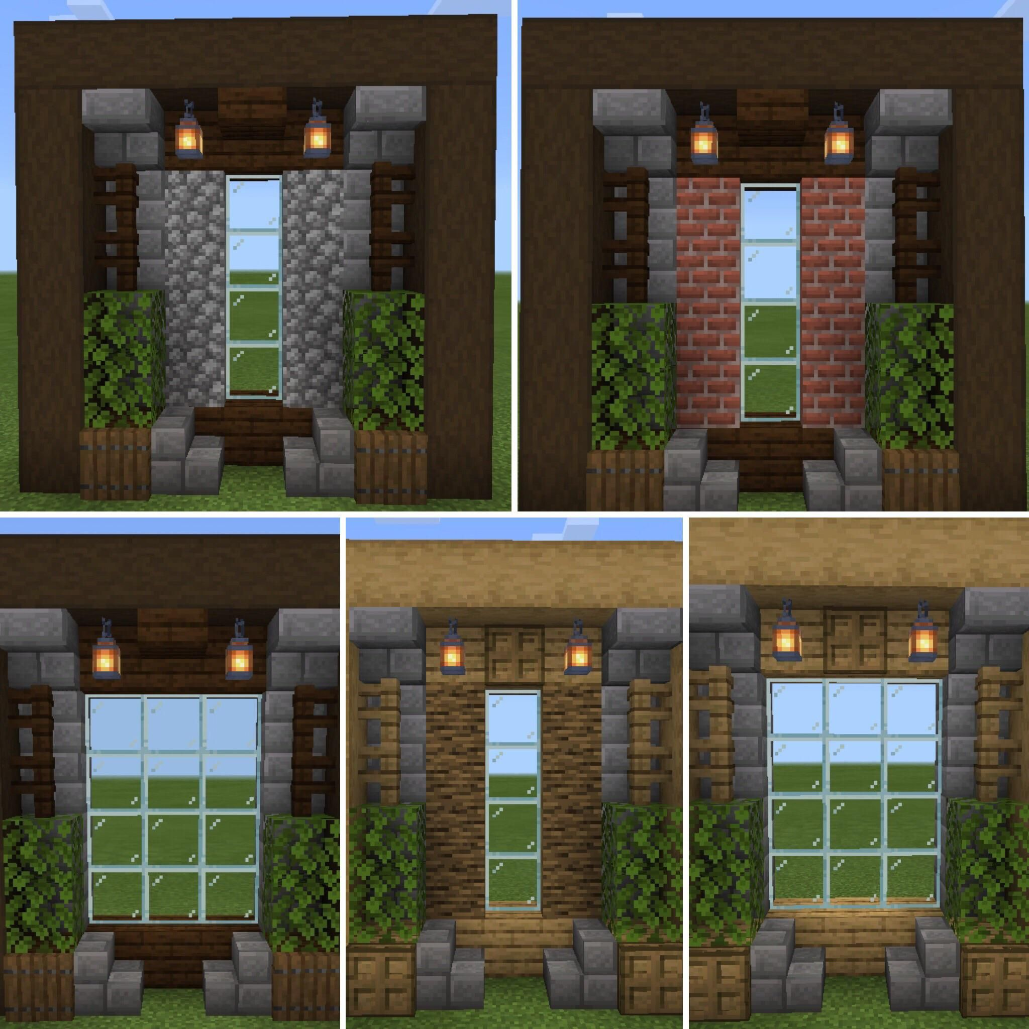 Made Some Windows For Oak And Dark Oak Style. Hope It