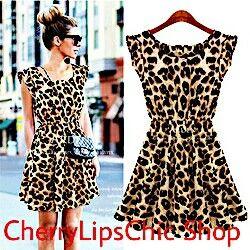 1d10051b61e8 Vestito leopardato  Leopard dress